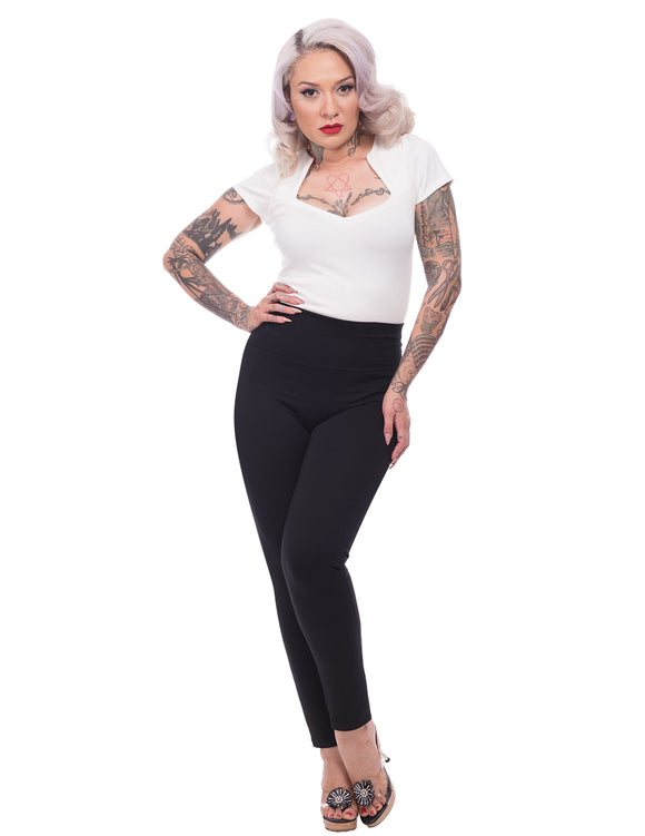 Audrey Cigarette Leggings in Black