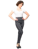 Back in Plaid Audrey Leggings in Black
