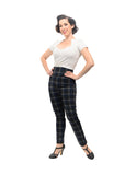 Back in Plaid Audrey Leggings in Navy