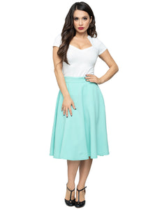Pocket High Waist Thrills Skirt in Mint