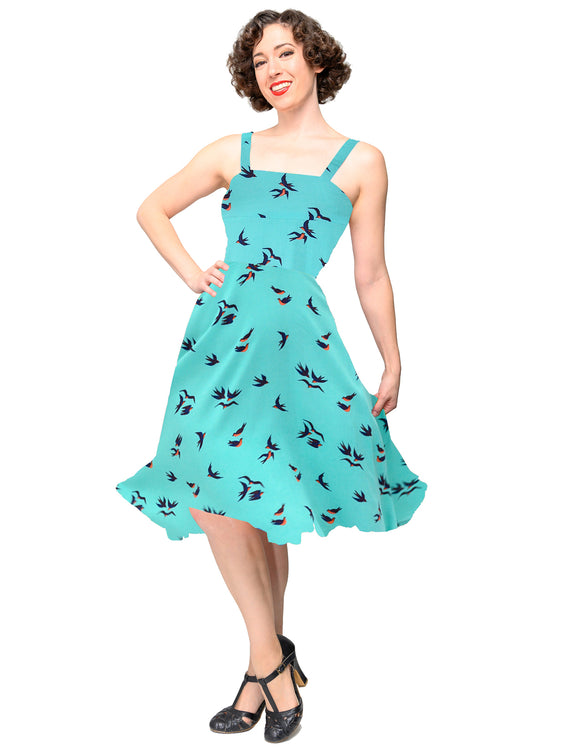 Birdie Swing Dress in Mint
