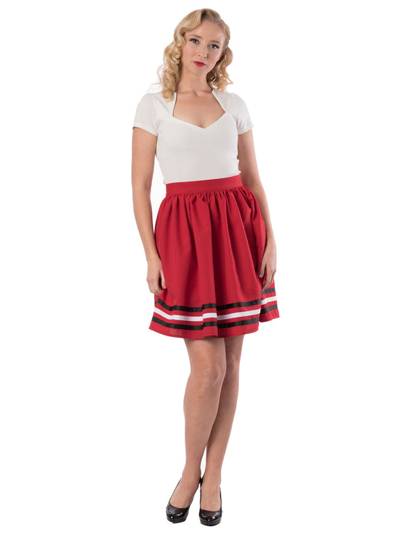High Tide Gathered Skirt in Red