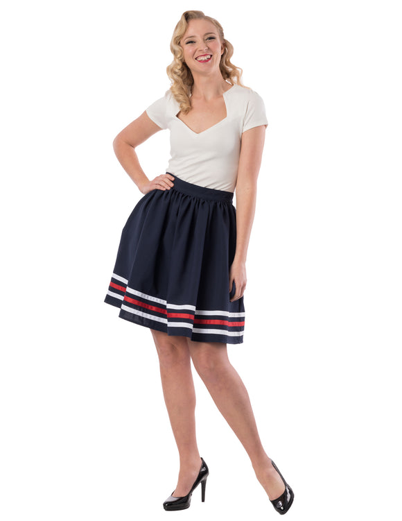 High Tide Gathered Skirt in Navy