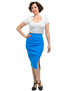 Cora Pencil Skirt in Turquoise