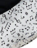 Music Note Thrills Skirt with Pockets