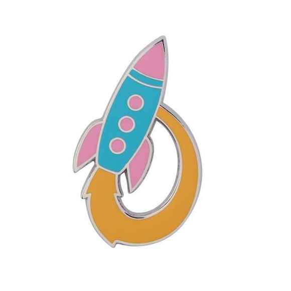 Radical Rocket Ship Enamel Pin
