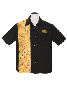 Sun Records Music Note Bowling Shirt