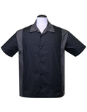 Poly Cotton Garage Shirt in Charcoal/Black