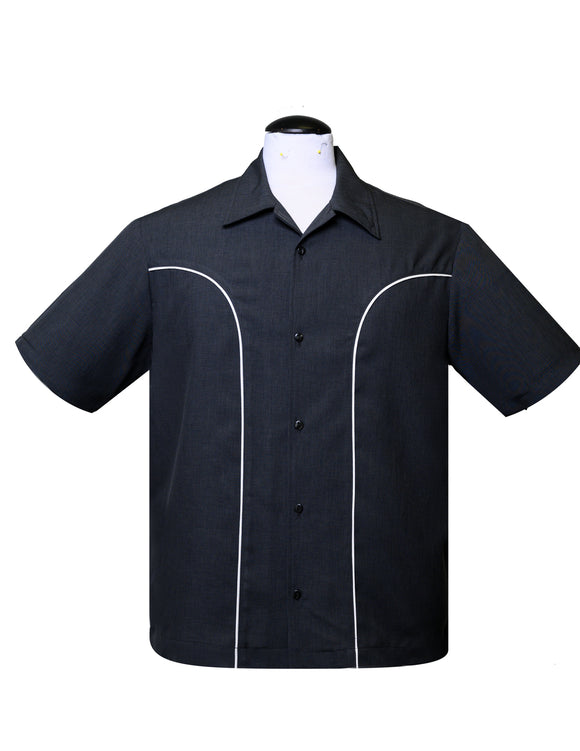 The Rio Bowling Shirt in Charcoal