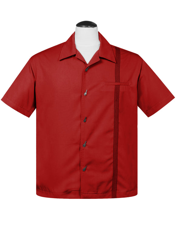 The Six String Bowling Shirt in Red
