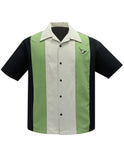 Atomic Mad Men Bowling Shirt in Black/Apple/Stone