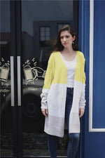 Load image into Gallery viewer, Casual Color Block Loose Cardigan