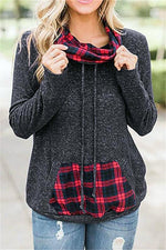 Load image into Gallery viewer, Plaid Patchwork Sweatshirt