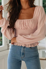 Load image into Gallery viewer, Casual Ruffled Collarless Shirt Top
