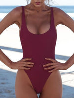Load image into Gallery viewer, Less Is More Solid Color One Piece Bikini