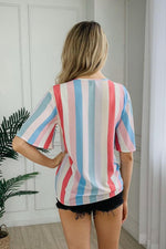Load image into Gallery viewer, Rainbow Striped T-Shirt