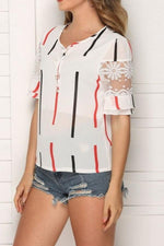 Load image into Gallery viewer, Flared Sleeves Off-Shoulder Chiffon Shirt