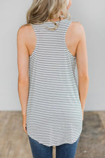Load image into Gallery viewer, Striped Sleeveless Hollow Out T-Shirt