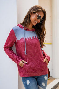 Gradients Color Pocket Hoodie