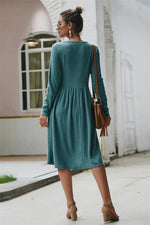 Load image into Gallery viewer, Elegant Double Pockets Slim Sweater Dress