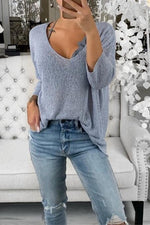 Load image into Gallery viewer, V-Neck Casual Sweater