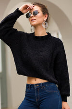 Load image into Gallery viewer, Long Sleeve Short Loose Sweater