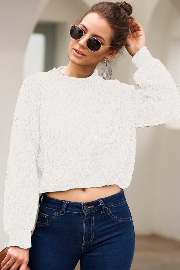 Long Sleeve Short Loose Sweater