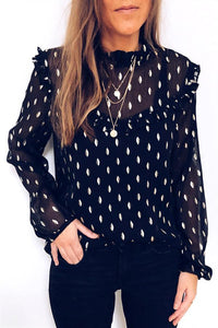 Streetwear Long Sleeve Ruffle Top
