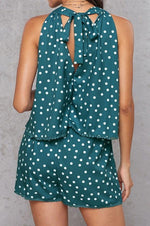 Load image into Gallery viewer, Polka-Dot Loose Floral Casual Jumpsuits