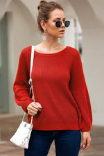 Load image into Gallery viewer, Solid Color Loose Long-Sleeved Sweater