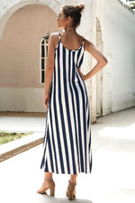 Load image into Gallery viewer, Leisure Striped Sleeveless Loose Dress