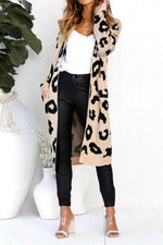 Load image into Gallery viewer, Long Leopard Print Knit Sweater