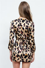 Load image into Gallery viewer, Chic Belt Leopard Blouse