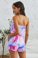 Load image into Gallery viewer, Tie Dye Off Shoulder Romper