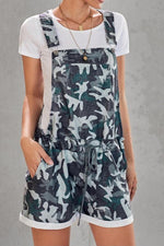 Load image into Gallery viewer, Camouflage Printed High-Waist Strap Shorts