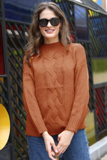 Load image into Gallery viewer, Solid Color Round Neck Sweater