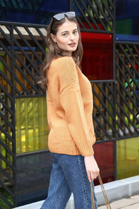 Solid Color Round Neck Sweater