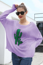 Load image into Gallery viewer, Round Neck Cactus Hole Sweater