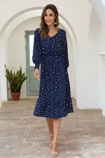 Load image into Gallery viewer, Dot Long Sleeve Chic Dress