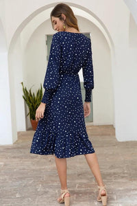 Dot Long Sleeve Chic Dress