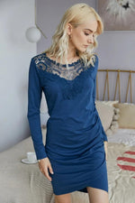 Load image into Gallery viewer, Lace Front V-Neck Dress