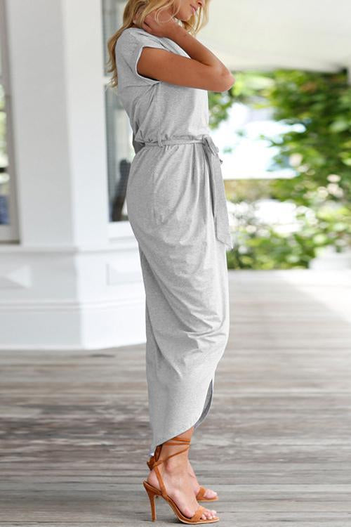 High Split Casual Maxi Dress