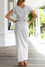 Load image into Gallery viewer, High Split Casual Maxi Dress