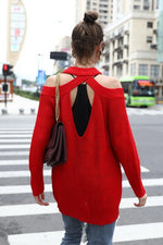 Load image into Gallery viewer, Open Back Solid Color Sweater