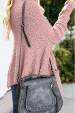 Load image into Gallery viewer, Medium Long Irregular Loose Sweater Coat