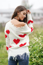 Load image into Gallery viewer, Commuter Printed Loose Knitted Sweater