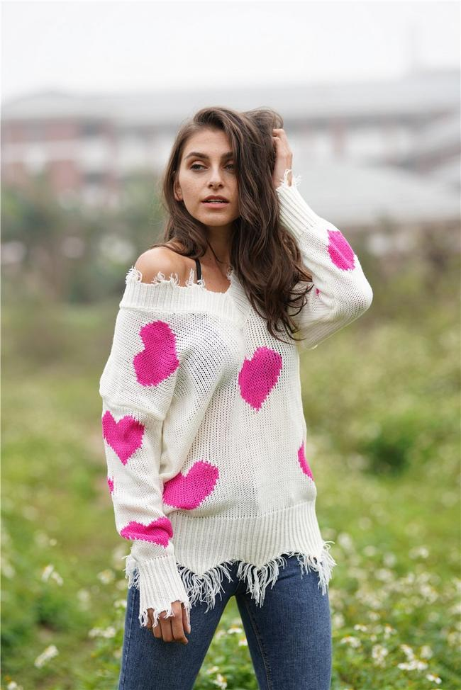 Commuter Printed Loose Knitted Sweater