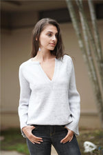Load image into Gallery viewer, Commuter V-Neck Loose Knitted Shirt