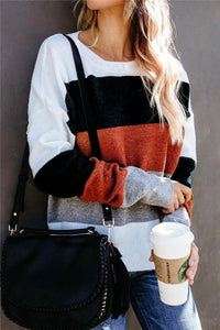 Color Block Leisure Sweater