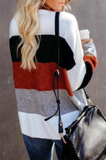 Load image into Gallery viewer, Color Block Leisure Sweater